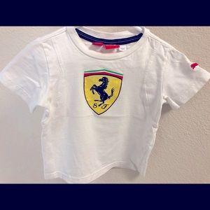 🛍4/$25 FERRARI Puma tee shirt size 2T